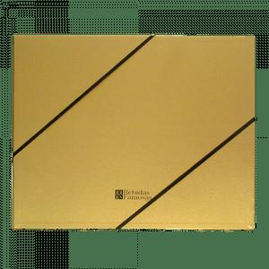 Caixa de Presente Dourada para 3 Garrafas